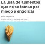 Reportaje en Cuídate+ sobre alimentación