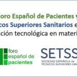 SETSS y FORO DE PACIENTES firman un manifiesto en favor de la renovación tecnológica en Sanidad