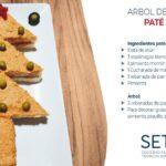 Receta de pastelito con formas de árbol de navidad