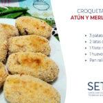 Receta de croquetas de patata, atún y merluza al horno