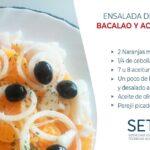 Receta de ensalada de naranja con bacalao y aceitunas negra