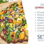 Pizza de quinoa y brócoli
