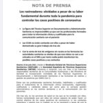 NOTA DE PRENSA SOBRE RASTREOS Y TEST DE ANTÍGENOS